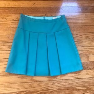 J. Crew Factory Teal Pleated Skirt - EUC